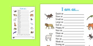 simile worksheet similies simile similies worksheet quick