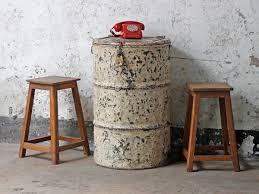 vintage metal drum table and storage sold scaramanga