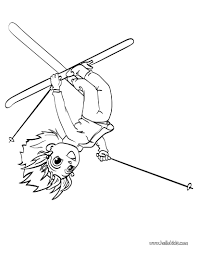 ana the ski acrobat coloring pages hellokids com