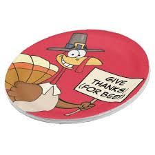 alternatives to turkey for thanksgiving dinner paper plate humor