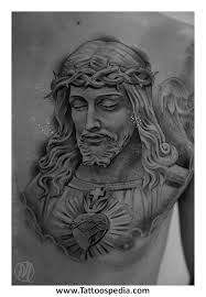 jesus chest tattoos for 2