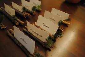 Table Card Holders by Lindsey Edits Rustic Place Card Holders