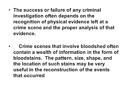 pattern physical evidence bloodstain pattern analysis ppt video online download