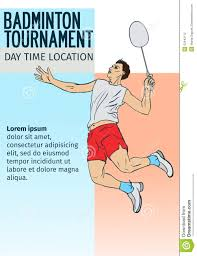 Sport Invitation Card Badminton Sport Invitation Poster Or Flyer Background With Empty