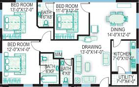 3 bhk house plan 3 bedroom house plan south facing home plans ideas