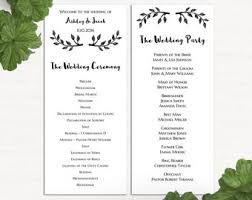 simple wedding program wedding program printable bohemian flowers and feathers