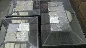 glass end table set slate coffee end tables set all4u
