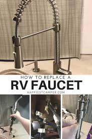 how to replace a rv faucet install a new kitchen faucet in your