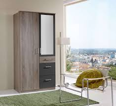 Modern Wardrobe Designs Italian Double 2 Door 3 Drawer Mirror Wardrobe Furniturebox