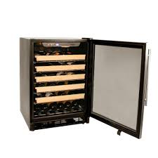 haier hvce24cbh 23 88 inch built in wine cooler in stainless
