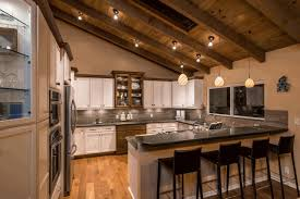 lighting for vaulted kitchen ceiling dark gray kitchen cabinet