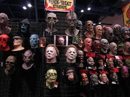 Halloween Monster Masks by Trick Or Treat Studios 2012 Halloween Expo Display Blood