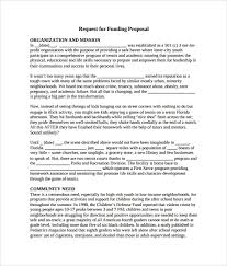 proposal template for funding request sample funding proposal 6