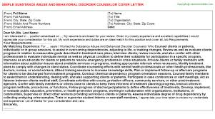 substance abuse and behavioral disorder counselor cover letter