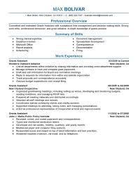 resume administrative assistant resume enrapture administrative