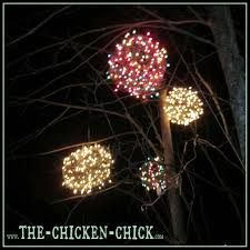 simple ideas lights the chicken wire lighted