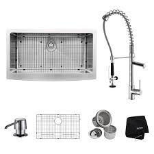 kitchen sinks with faucets 36