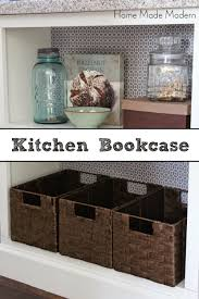 kitchen island with bookcase home made modern