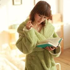 robe de chambre chaude pour femme luxe flanelle peignoir robe chambre polaire enveloppant peignoir