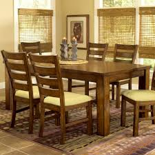 furniture captivating wood monopole dining table and padded