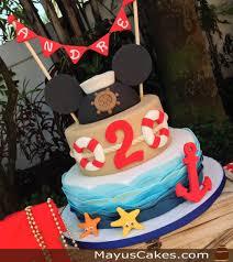 nautical mickey mouse cake disney birthday cakes