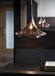 Tech Lighting Cube Pendant by Hand Blown Glass Pendant Lights Bubble Clear Hand Blown Glass