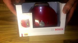 Bosch Toasters Theo Klein Toy Bosch Toaster Unboxing And Instructions Youtube