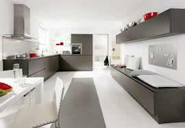 cool modern u shape kitchen features grey colour kitchen cabinets