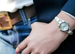 fossil steel leather bracelet images Fossil georgia mini ladies fashion watch review eve 39 s watch jpg