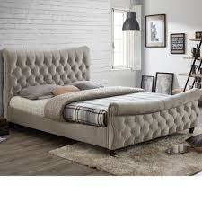 Tufted Sleigh Bed King King Size Fabric Sleigh Bed Sleigh Bed Iron Sleigh Bed King