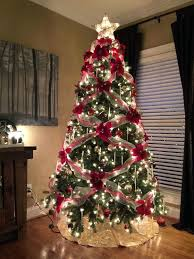 Images Of Christmas Trees Decorated With Mesh Snow Doll Theme