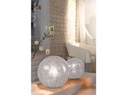 Wohnzimmerlampen Weiss Kugel Tischleuchte Tischlampe 25cm Glas Weiß Wohnzimmerlampe