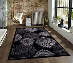 amazon com 776 black gray grey 5 u00272x7 u00272 area rugs carpet kitchen