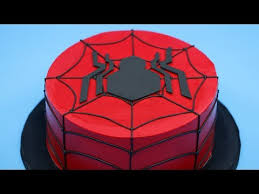 learn how to make a fancy spider man cake video wonderful nerd