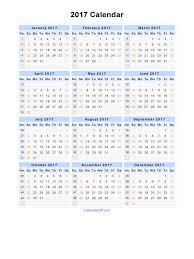 2017 calendar blank printable calendar template in pdf word excel