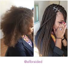 xpressions braiding hair box braids 30 medium sized box braid on a curly natural hair hair used