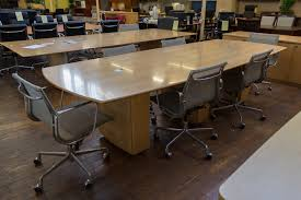 peartree sienna series boat shaped wood conference table