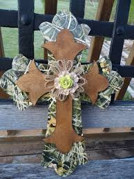 crosses wall decor western camo wooden stacked cross wall decor by wbranddesigns