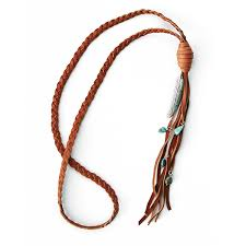 braided leather necklace images Braided feather necklace lucky lou designs jpg