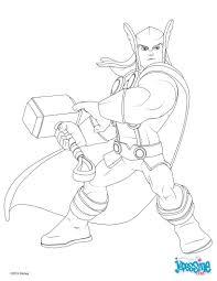 Voici un coloriage inédit des Avengers Voici un dessin de Thor qui
