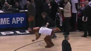Sports Blinds Robin Lopez Fights Blinds Spurs Mascot Nba Sporting News