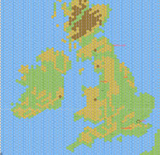 Britain Map Hex Map Of Ireland And Britain