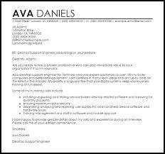 Cover Letter For Desktop Support desktop support engineer cover letter sle livecareer