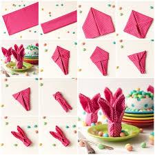 easter napkins wonderful diy bunny napkins