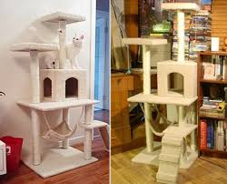 cat tree house with hammock bed grabone store
