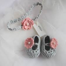 crochet hair band crochet baby shoes with headband by attic