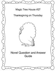 thanksgiving on thursday magic tree house 27 book study guide
