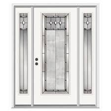full glass entry door jeld wen 66 in x 80 in full lite hadley primed steel prehung