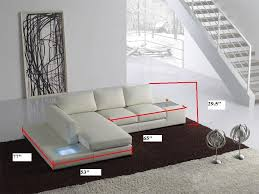 Modern White Bonded Leather Sectional Sofa Tosh Furniture Modern White Compact Bonded Leather Sectional Sofa