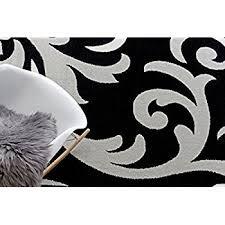 Damask Area Rug Black And White Black And White Area Rugs